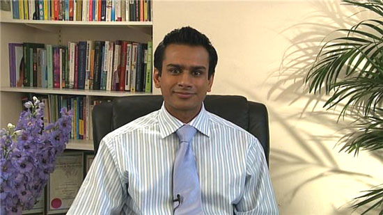 Ashok Gupta in his London Clinic