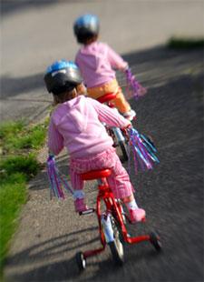 Twins on Bikes