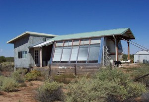 Passive Solar Sunroom with Trailer