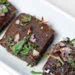 Flax focaccia becomes parsley bruschetta
