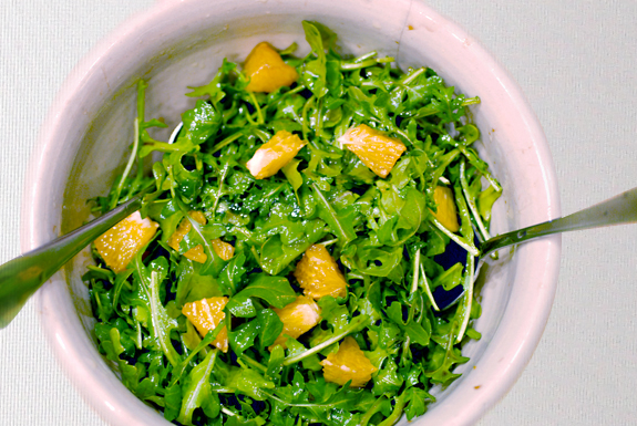 Orange arulgula salad