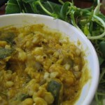 Spicy zucchini and chana dal