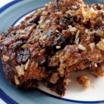 Cherry almond chocolate crisp bars