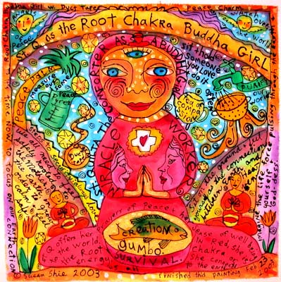 Root Chakra Buddha Girl ©2005 Susan Shie