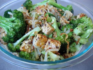 tempeh with broccoli