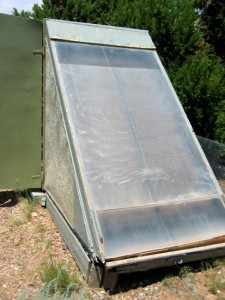 Solar food dryer (front)