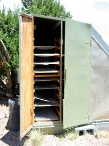 Solar food dryer (side)
