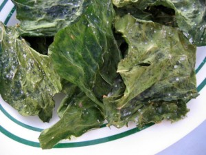 Dehydrated collard greens