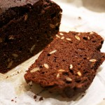 Grain-free chocolate pumpkinseed bread
