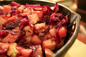 Apple, turnip & cabbage hash