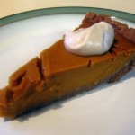 Gluten/sugar free pumpkin pie with cashew whipped cream