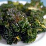 Baked lemon kale chips