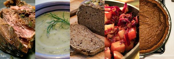 Gluten-/dairy-/refined sugar-free Thanksgiving extravaganza