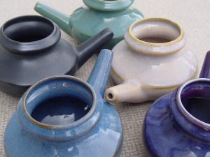 Beautiful Baraka lead-free glazed ceramic neti pots