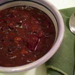 Beet and black bean chili