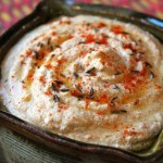 Toasted cumin and paprika hummus