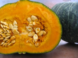Kabocha squash, also known as Japanese pumpkin