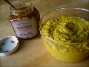 Homemade buckwheat honey mustard