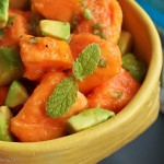 Minted papaya avocado salad