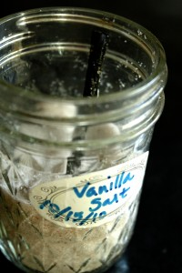 Homemade vanilla salt