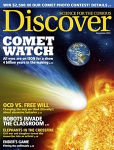 November 2013 issue of Discover magazine