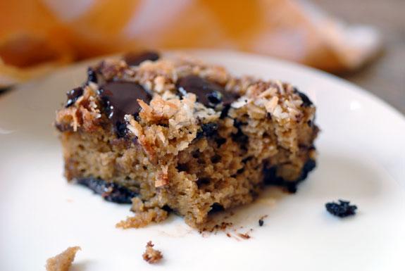 Homemade chocolate Almond Joy bars